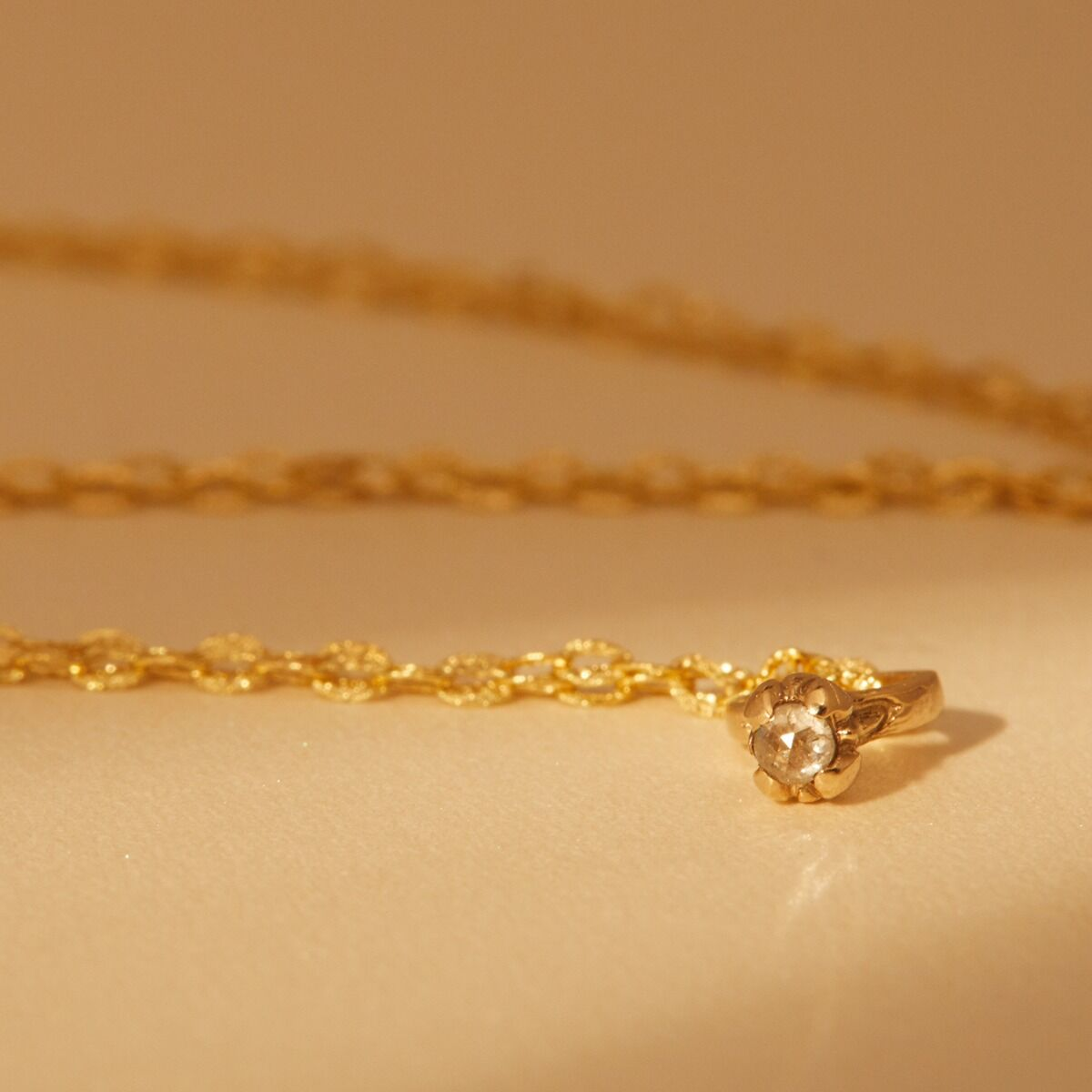 Bitty Diamond Ring Necklace image
