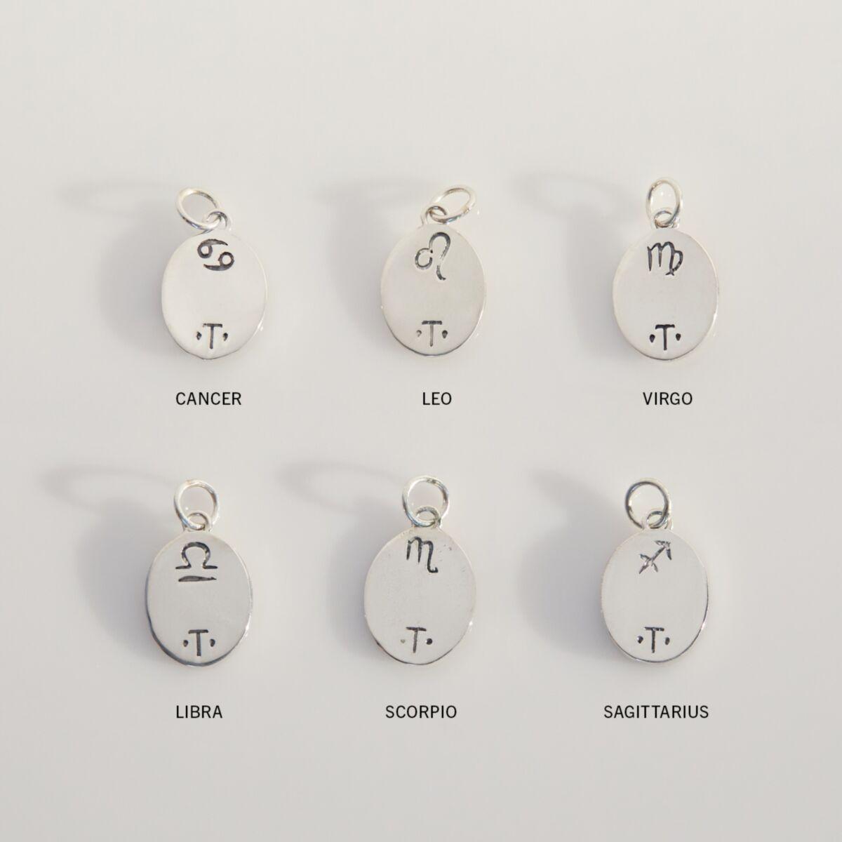 Zodiac Pendant, Silver image