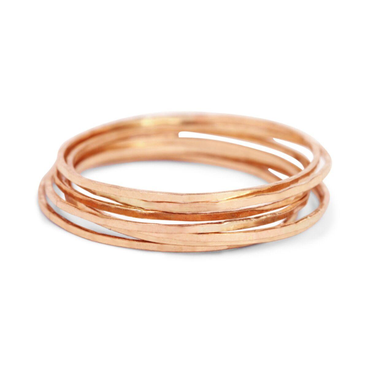 Threadbare Ring, Rose Gold image