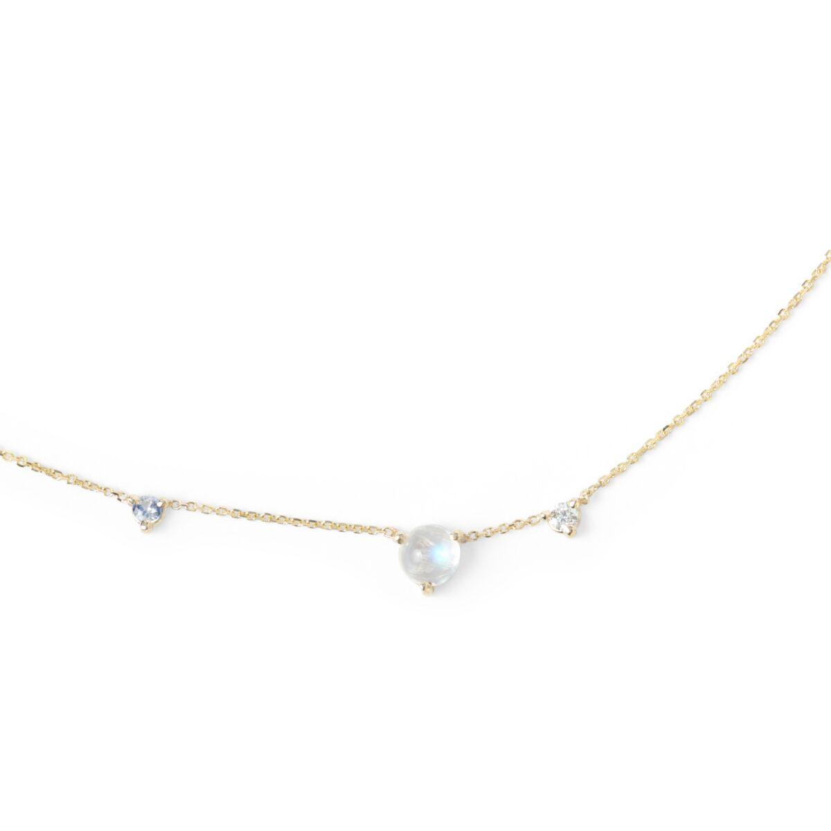 Three-Step Necklace, Moonstone image