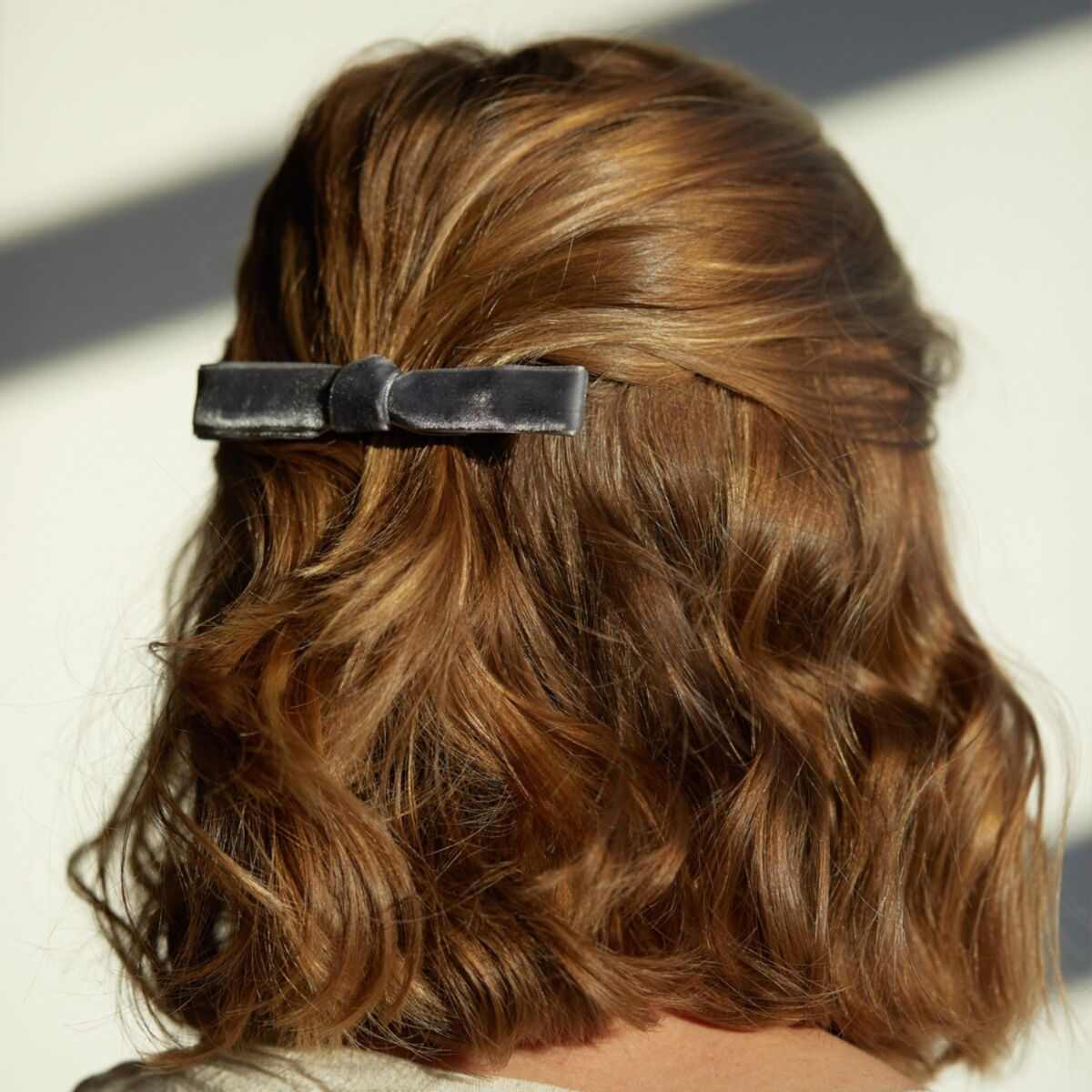 Alice's Big Velvet Barrette, Grey image
