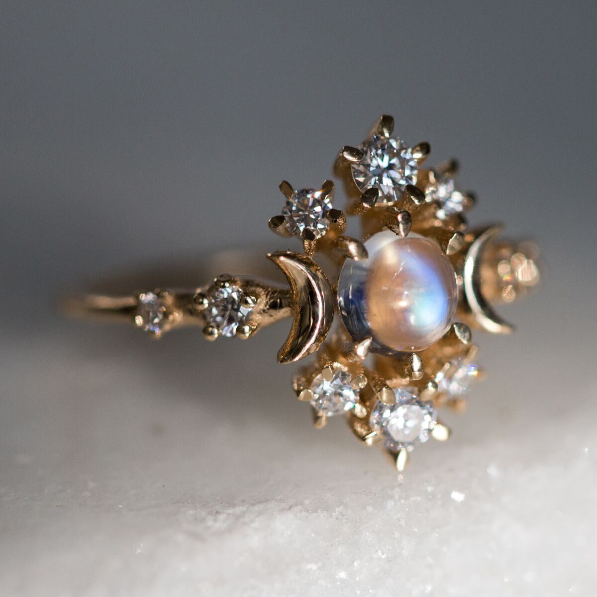 Wandering Cosmos Ring, Moonstone image