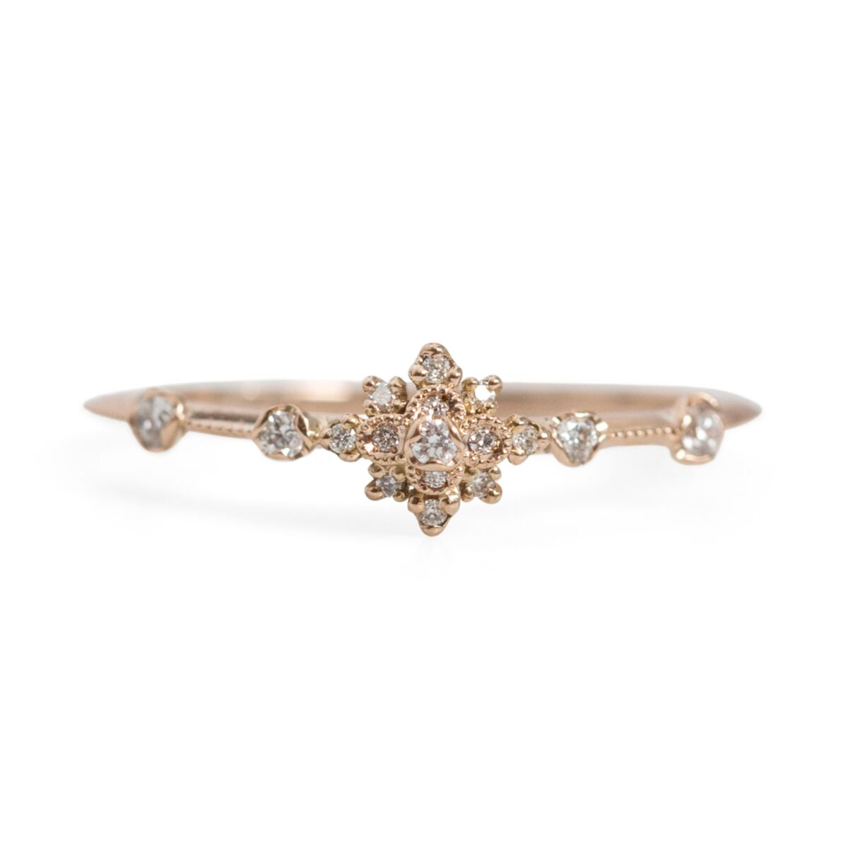 White Lotus Flower Ring image