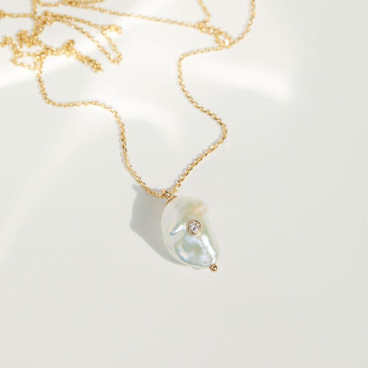 Baby Baroque Necklace with Diamond image