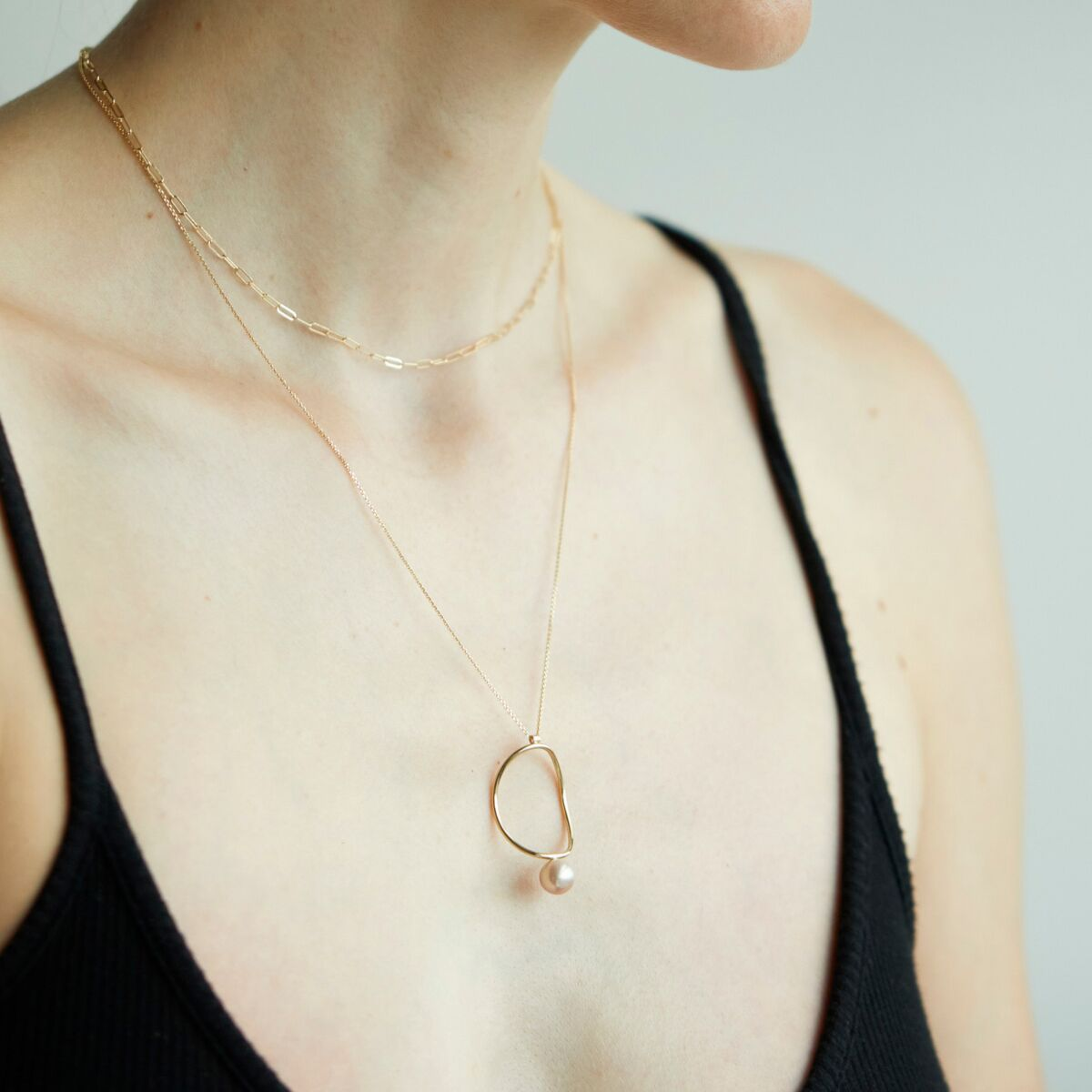 Pearl Continuity Necklace image