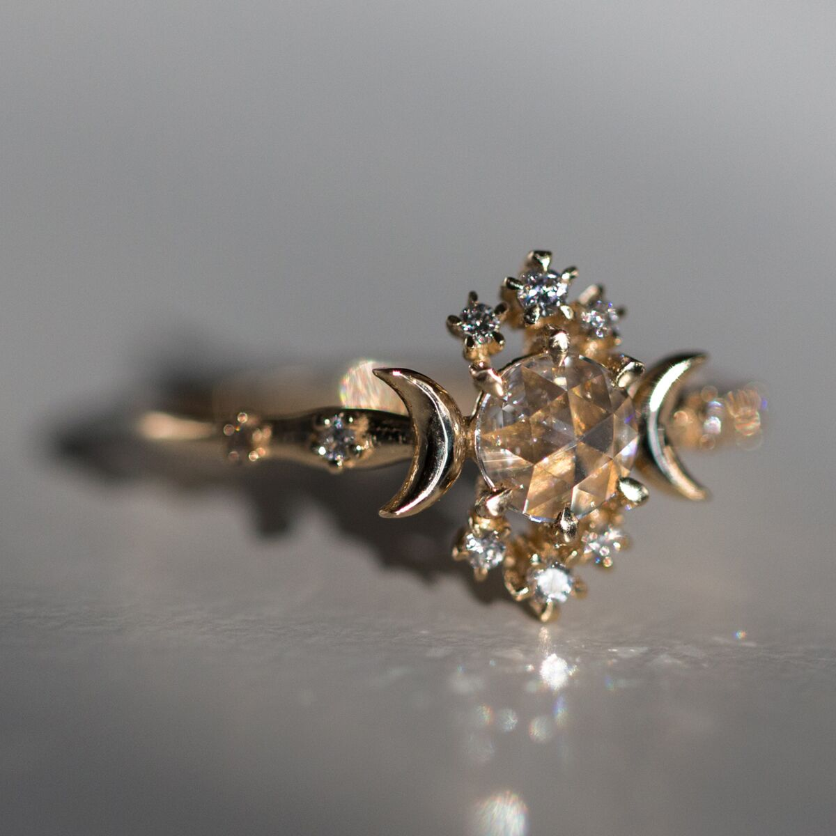 Wandering Star Ring, Rose Cut Diamond image