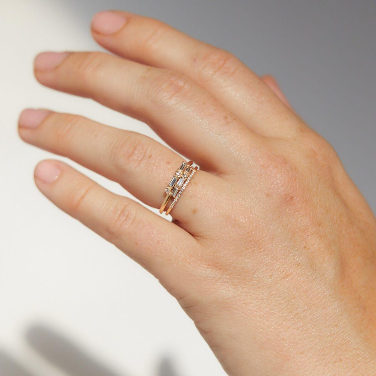 Diamond Brickwork Ring image