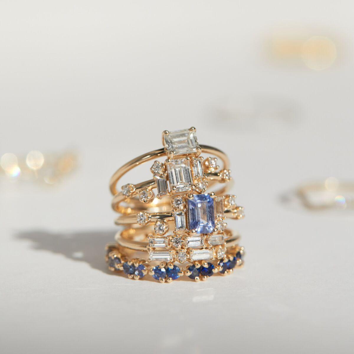 Emerald Cut Diamond Solitaire Ring image