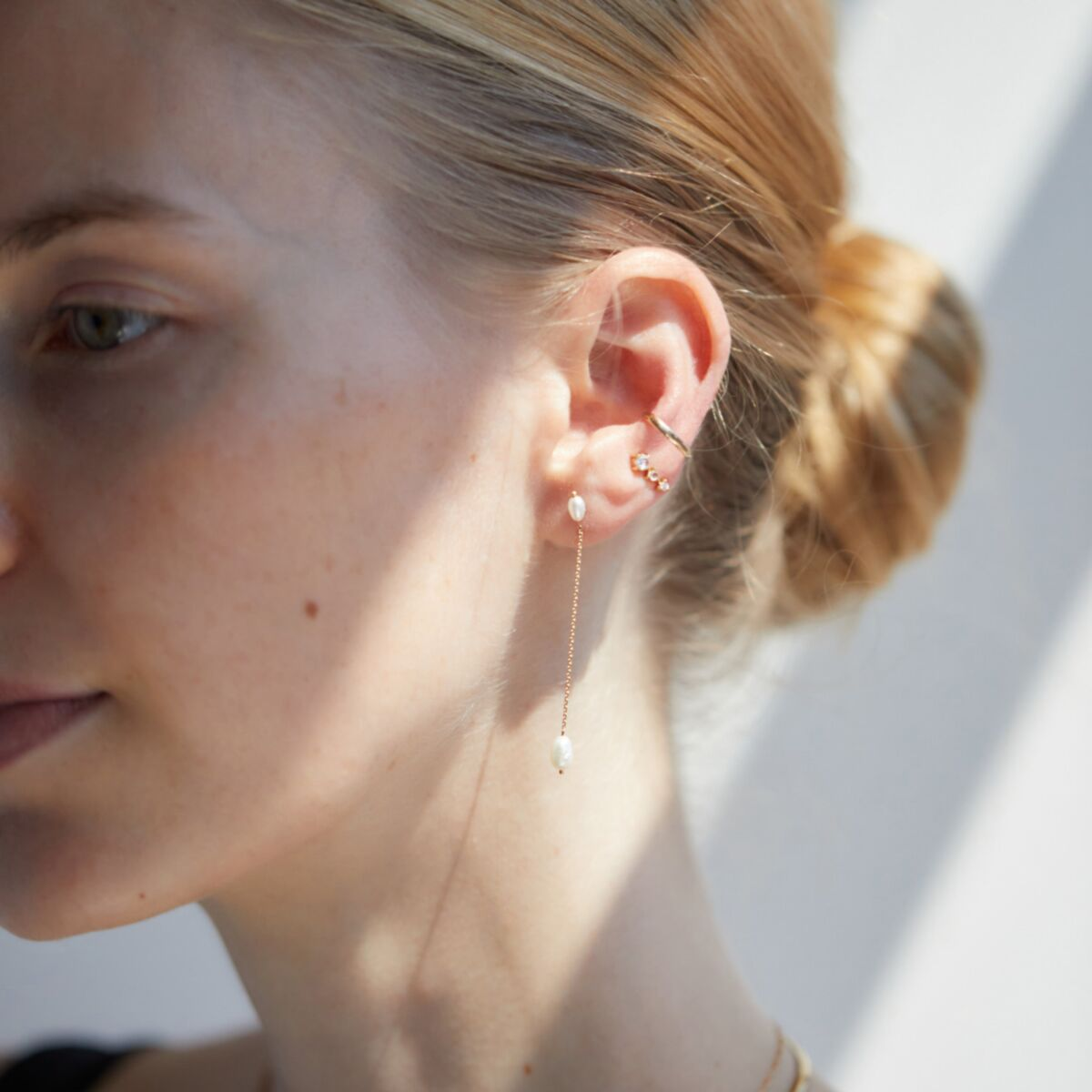 Long Pearl Shower Earring image