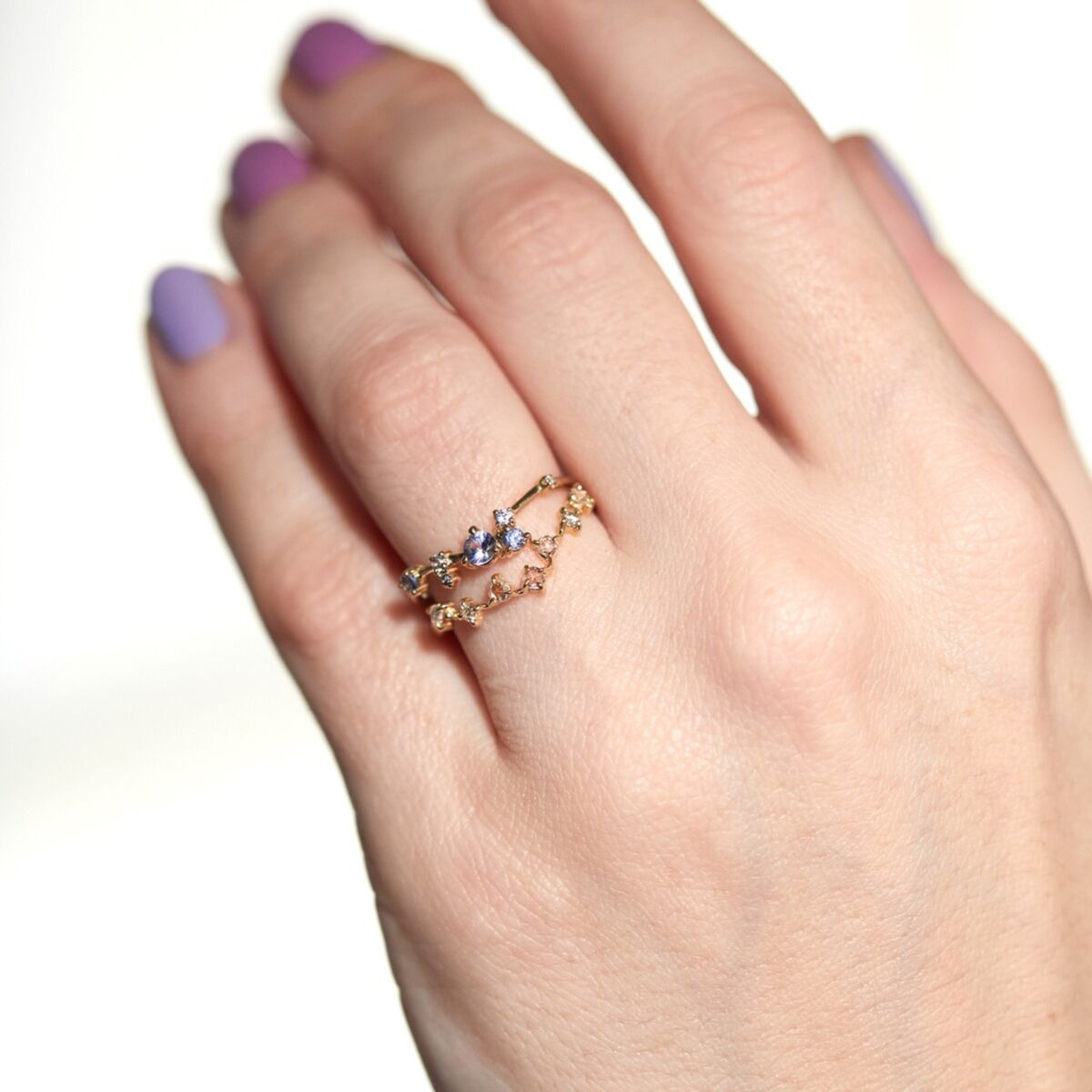 Organic Triangle Ring, Sapphire image