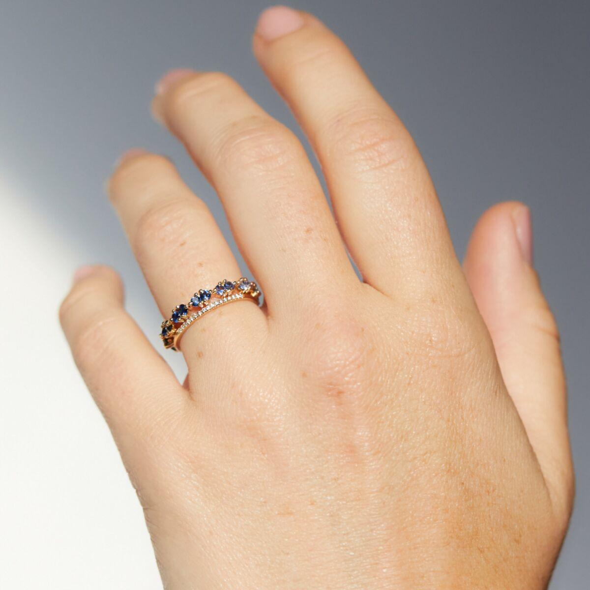 Pathway Eternity Ring (Gradient Blue Sapphire) image