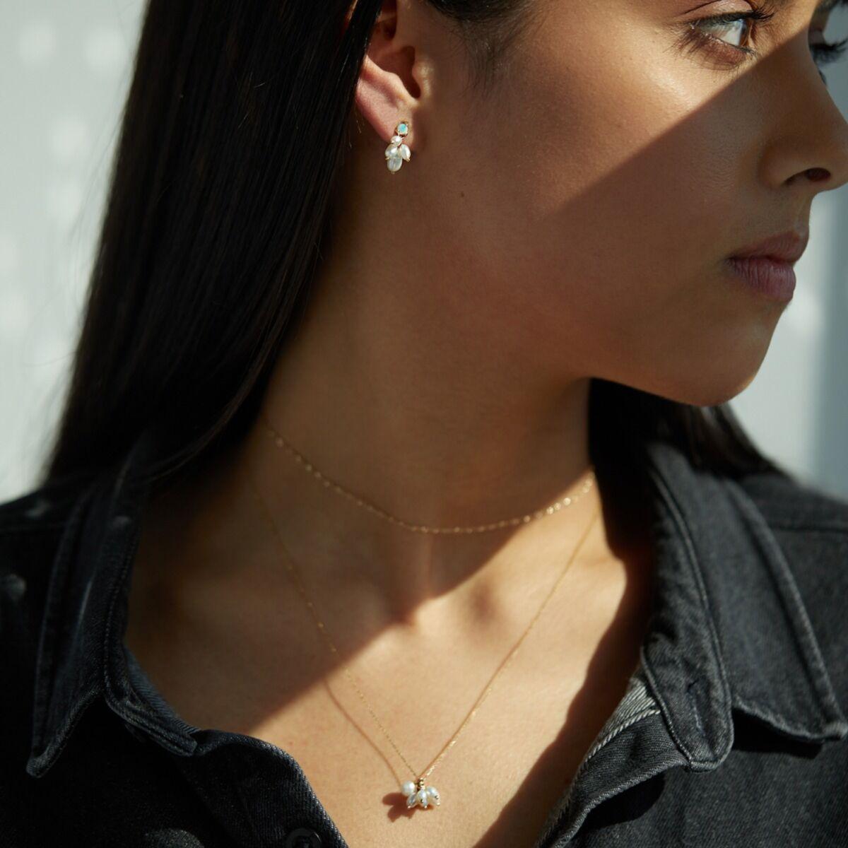 Opal and Pearl Cloudburst Earring (single) image