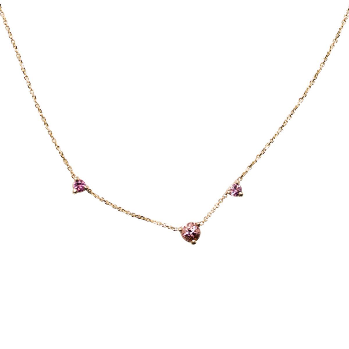 Three-Step Necklace, Tourmaline image