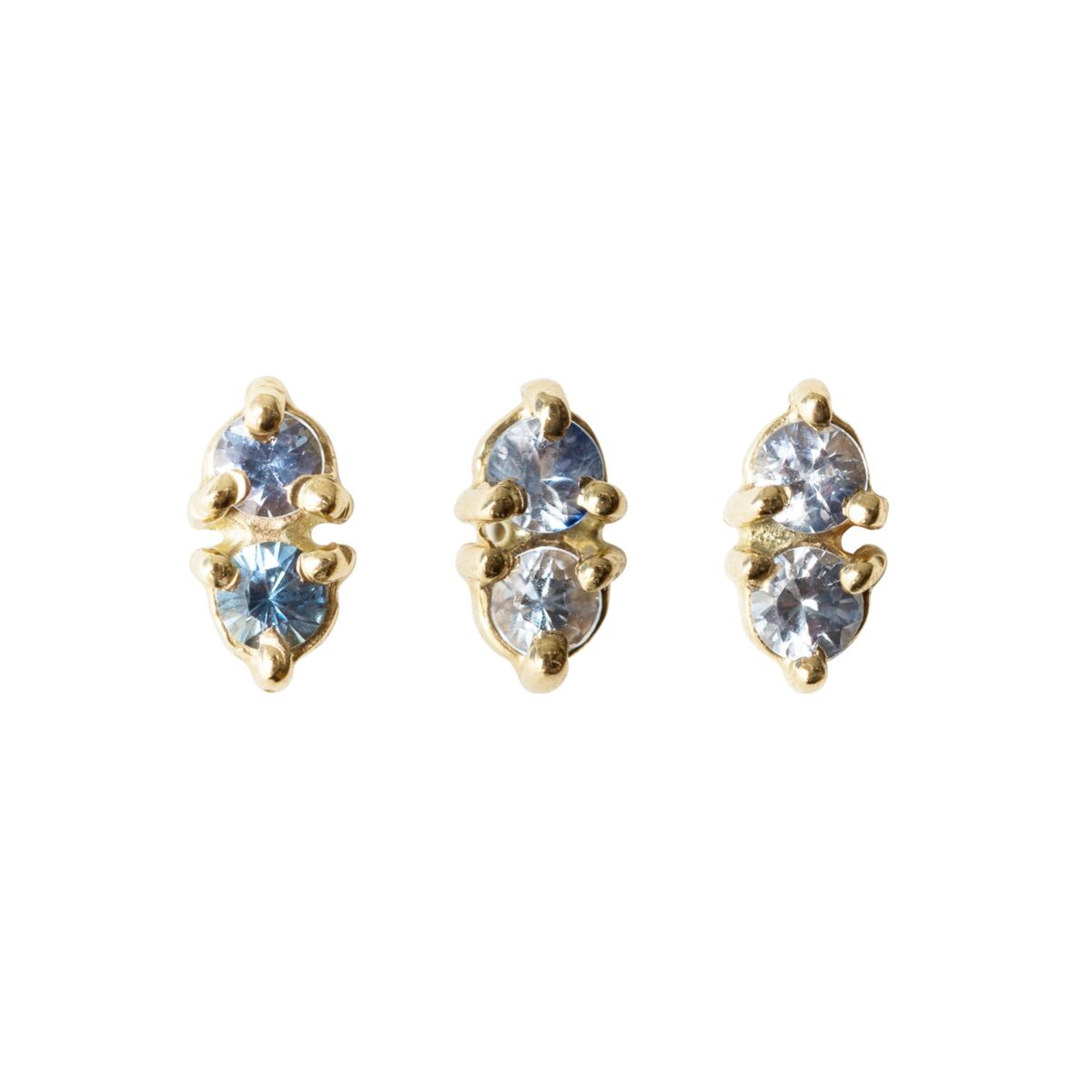Tonal Two-Step Sapphire Earring (Single) image