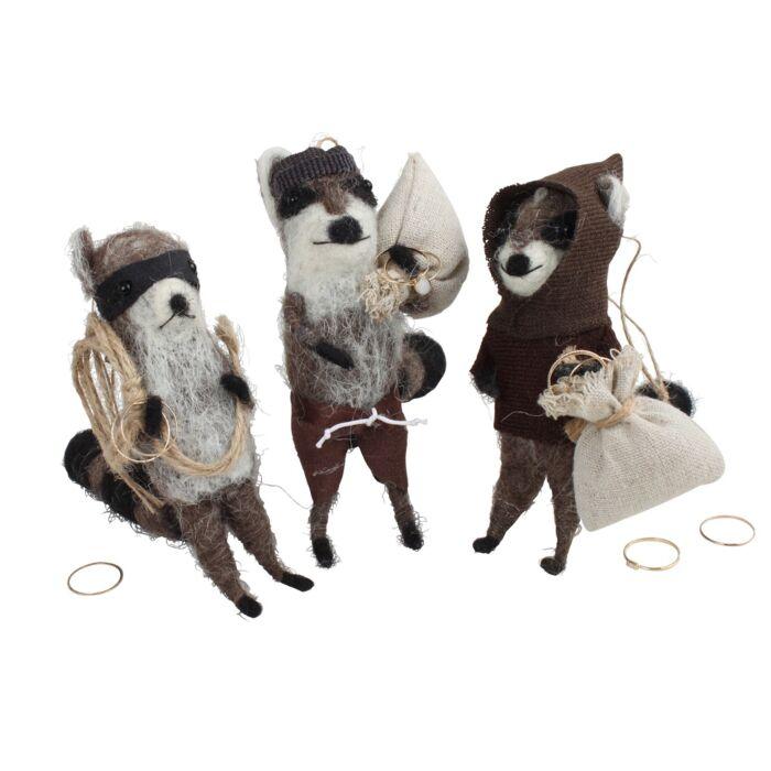 Jewel Thief Bandit Raccoon Ornament
