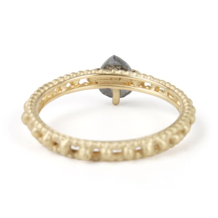 Rapunzel Grey Diamond Solitaire Ring image