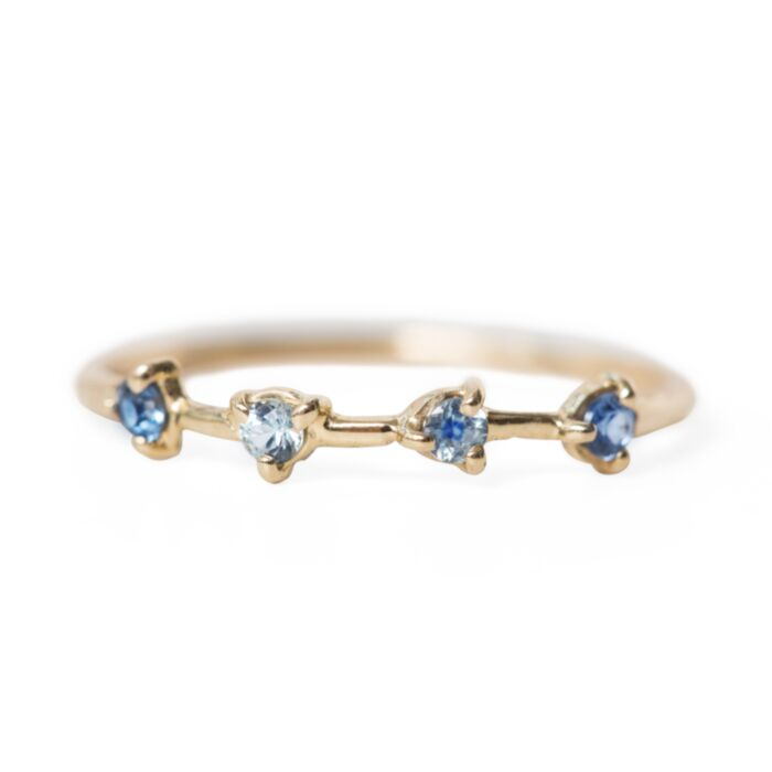 Four-Step Ring, Sapphires