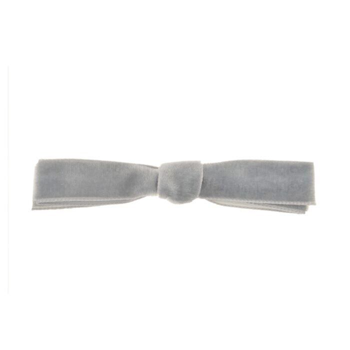Alice's Big Velvet Barrette, Grey