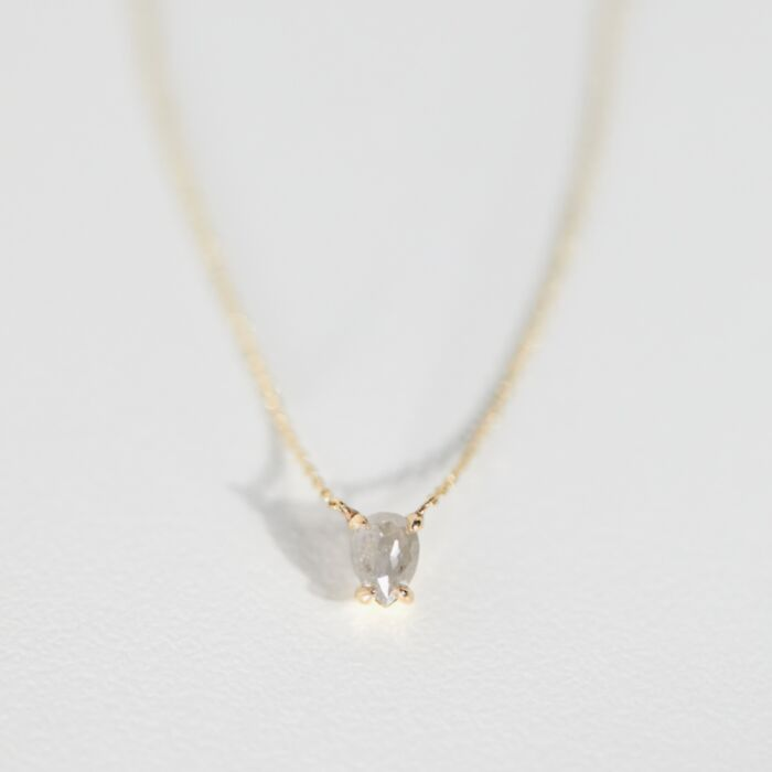 Icy Gray Diamond Necklace