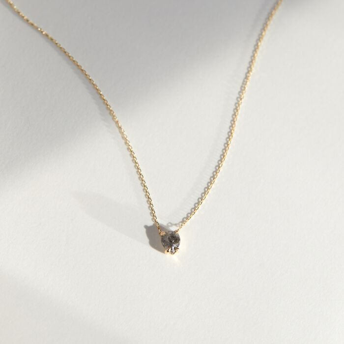 Dark Gray Diamond Necklace