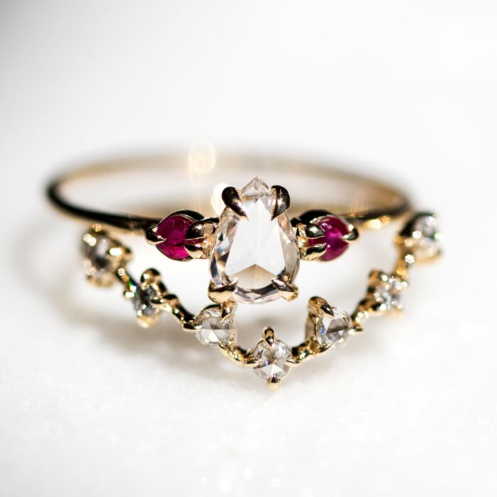 Curved Snow Queen Ring image