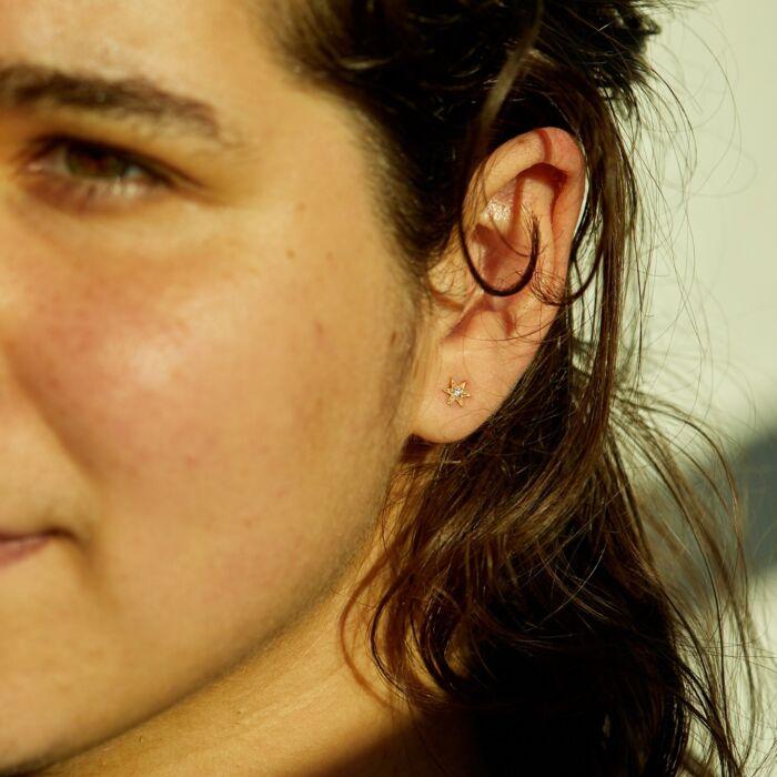 Six Point Star Stud Earring (Single) image