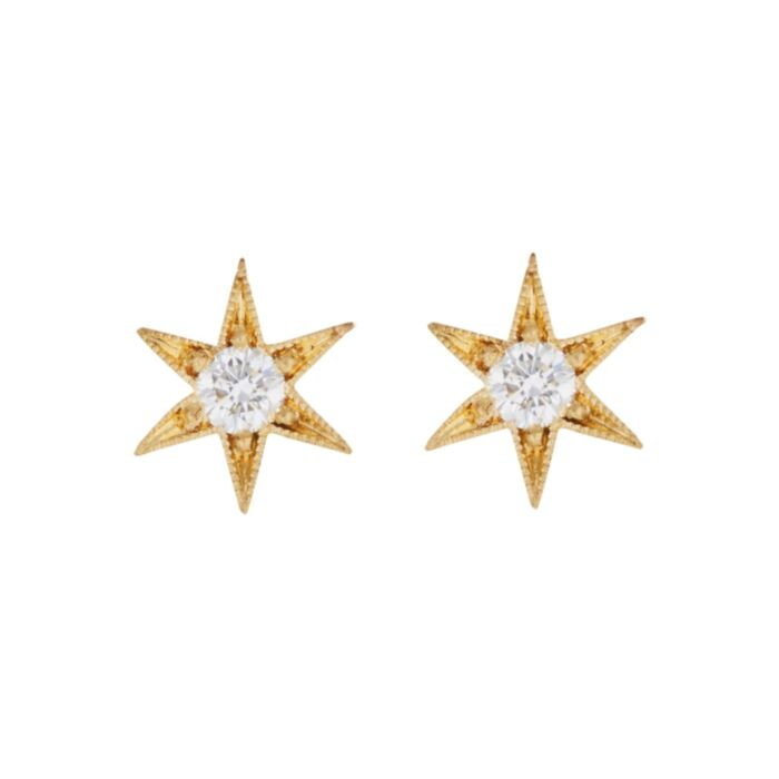Six Point Star Stud Earring (Single)