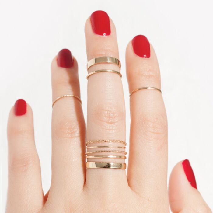 Tomboy First Knuckle Ring, Yellow Gold