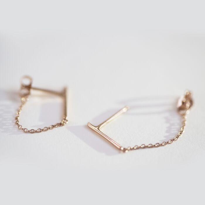 Ballerina Earring, rose gold (single) image