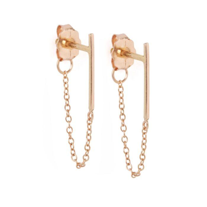 Ballerina Earring, rose gold (single)