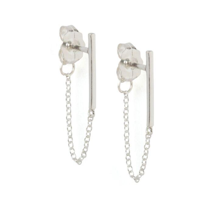 Ballerina Earring, silver (single)