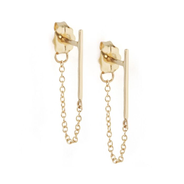 Ballerina Earring, yellow gold (single)