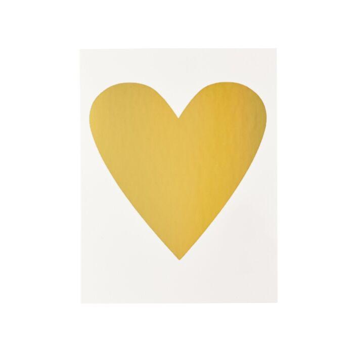 Gold Heart Card