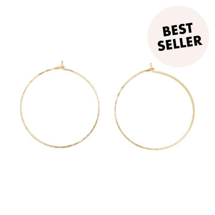 Big Hoop Dream Earrings, yellow gold