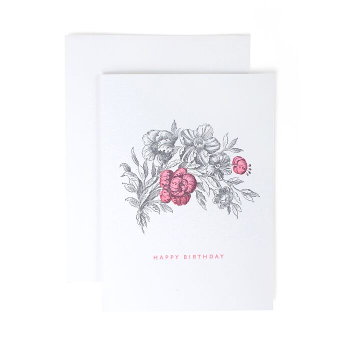 Hot Pink Flower Birthday Card image