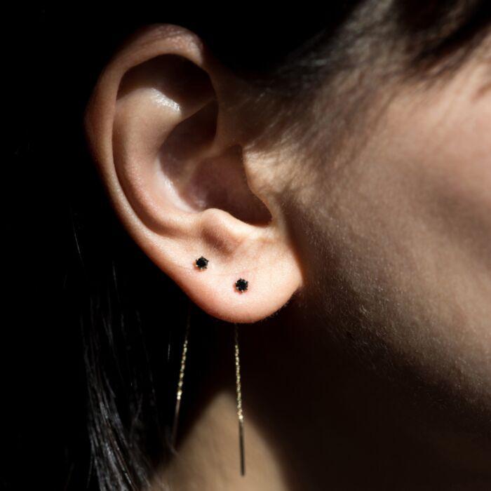 Stitch Earring, Black Diamond (SINGLE) image