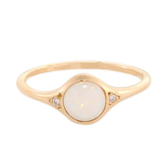 Florence Solitaire Ring, Opal
