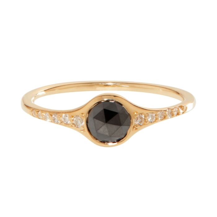 Florence Solitaire Ring, Black Diamond image