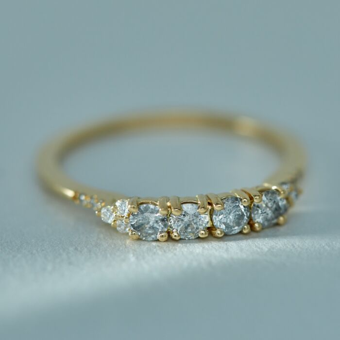 Ophelia Ring, Grey Diamonds image