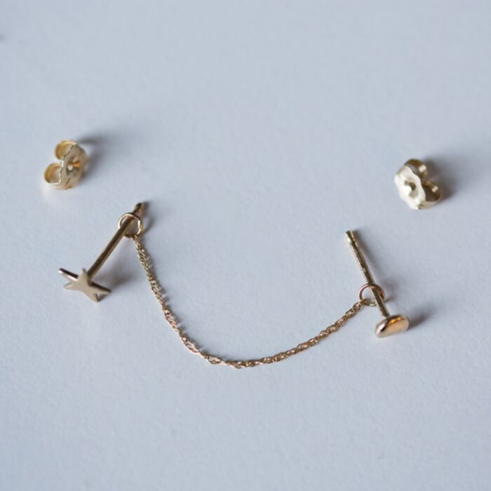 The Claribel Earring Chain image