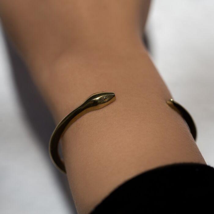 Brass Snake Cuff image
