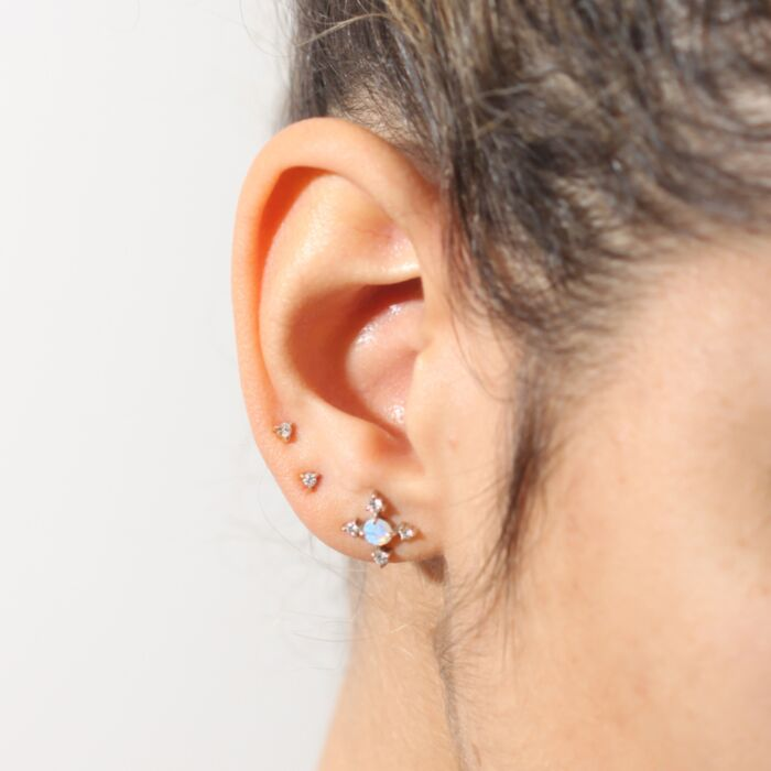 Petite Angel Hair Diamond Stud (single) image