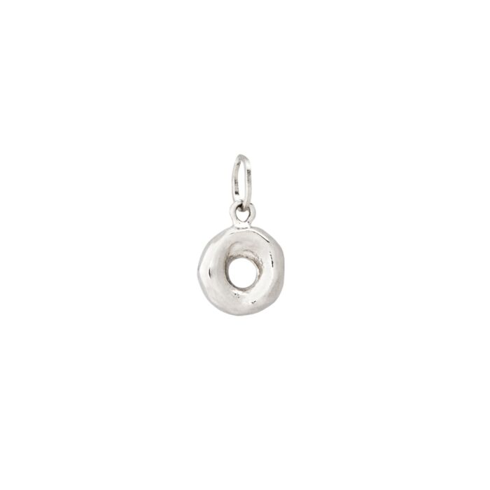 Better Half Bagel Charm, Silver image