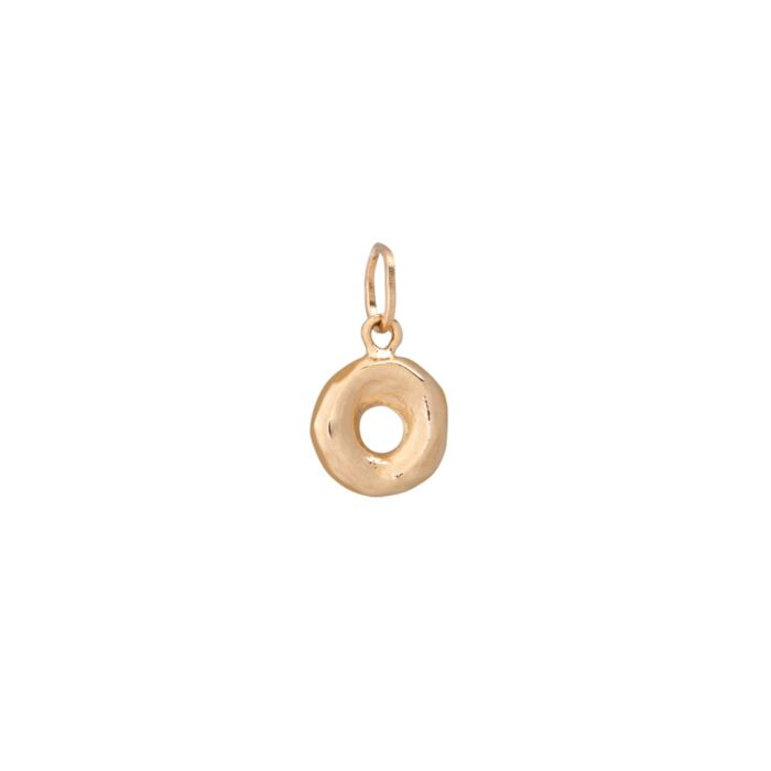 Better Half Bagel Charm, Yellow Gold