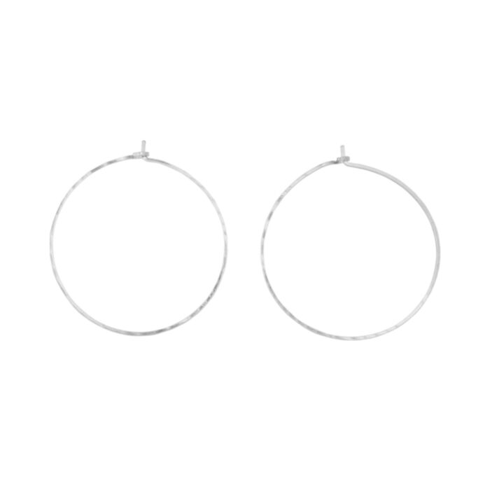 Big Hoop Dream Earrings, Silver