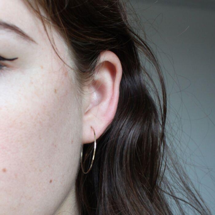Big Hoop Dream Earrings, yellow gold image