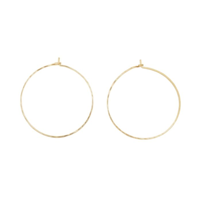 Big Hoop Dream Earrings, yellow gold