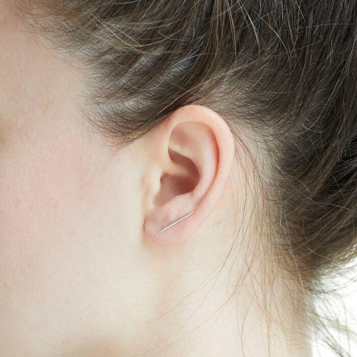 Big Secret Ear Climber, silver image