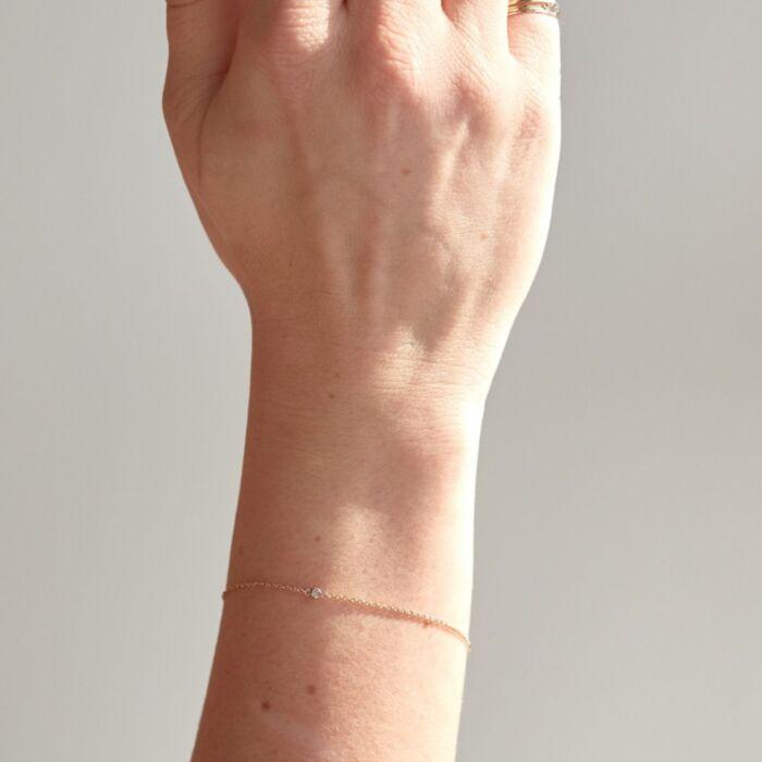 Forever Tiny Corsage Bracelet, Rose Gold