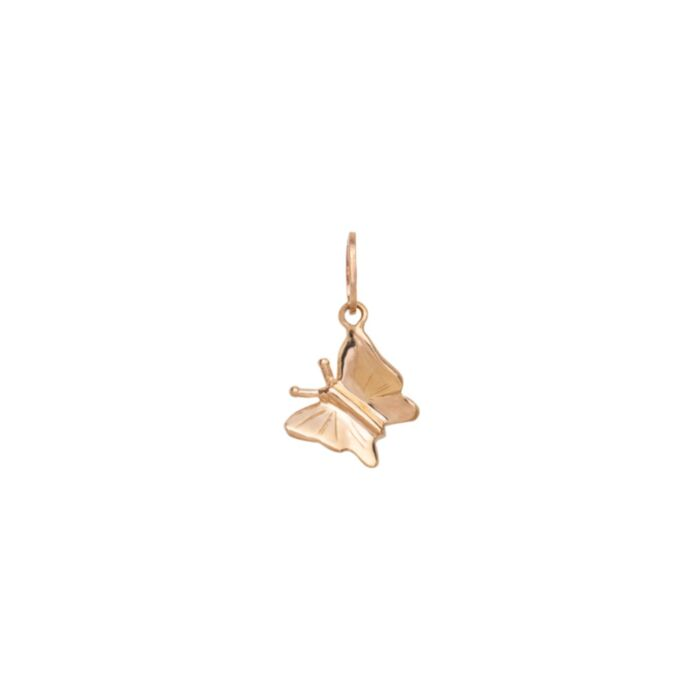 Little Butterfly Charm, Yellow Gold